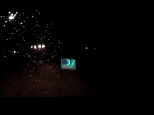 Testing the feasibility of using the same crappy phone as a HUD on another car of mine on a rainy night...