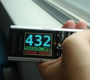 My old (and free!) Sony Ericson showing my speed on a MagLev