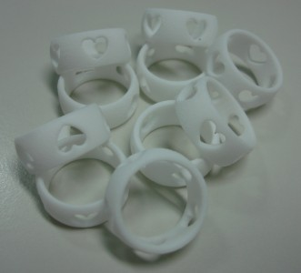 The heart shape rings came out in perfect crisp detail!