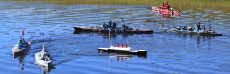 Model boat fleet fun