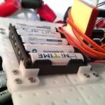 Custom mounts for the battery holder