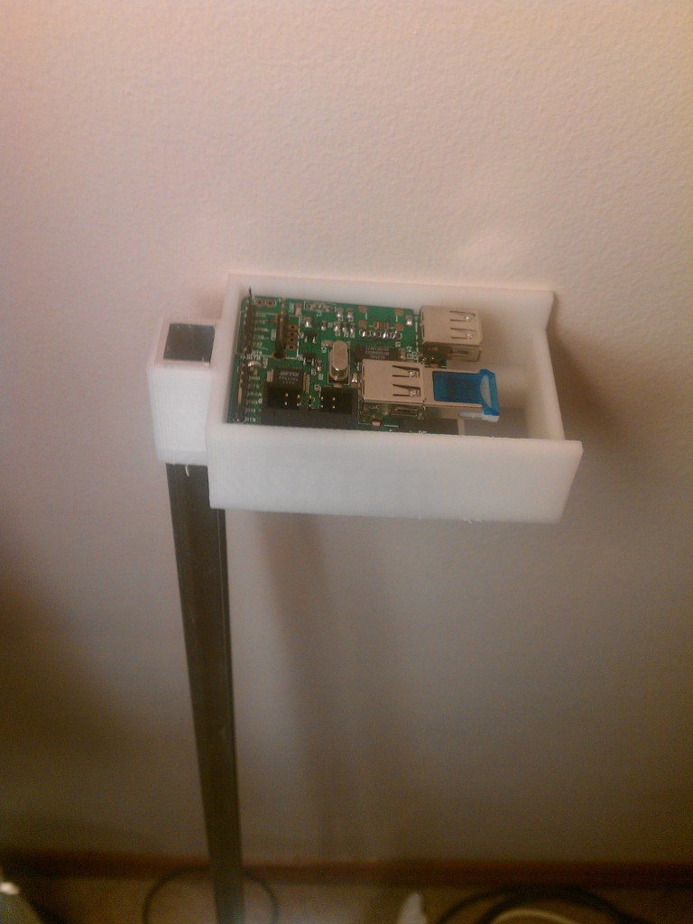 Testing a case design for the router + expander board